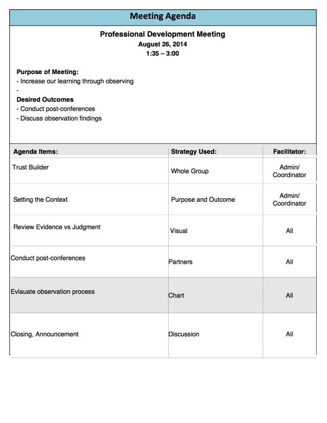 PD Tuesday 8-26 Agenda