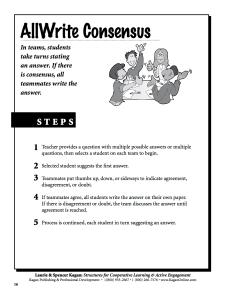 AllWrite Consensus